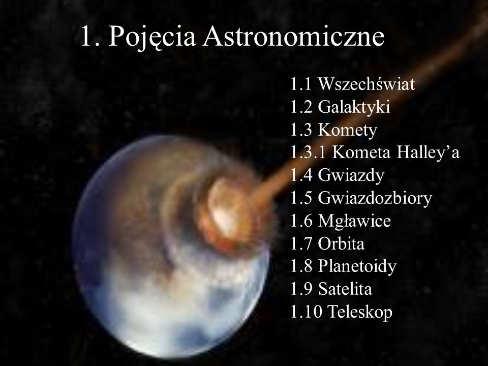 1. Pojęcia Astronomiczne