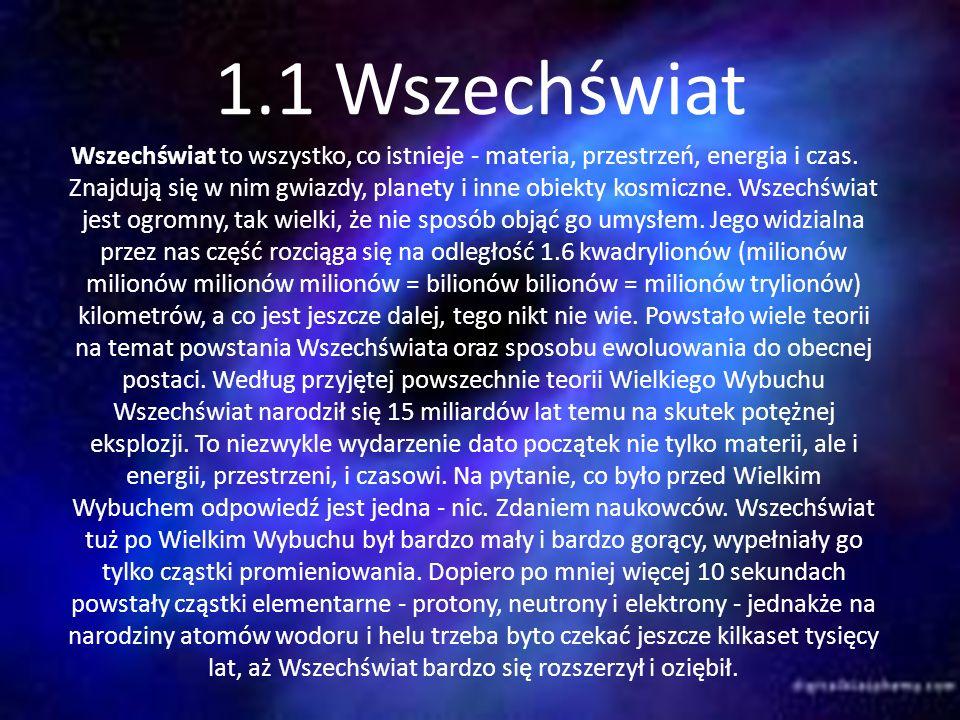 1.1 Wszechświat