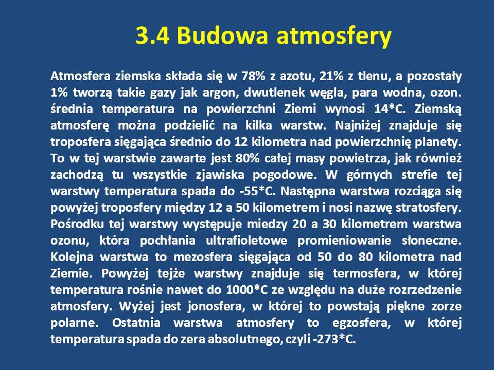 3.4 Budowa atmosfery