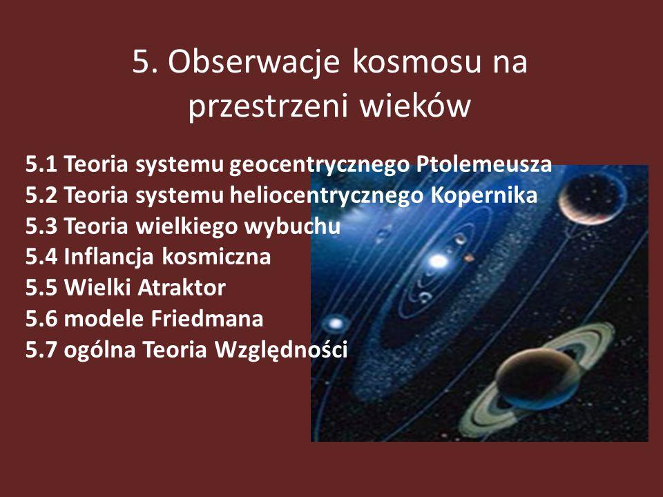5. Obserwacje kosmosu na przestrzeni wieków