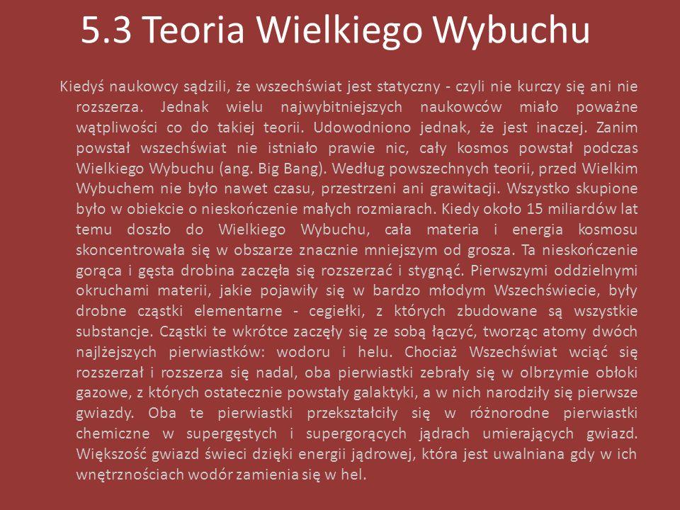 5.3 Teoria Wielkiego Wybuchu