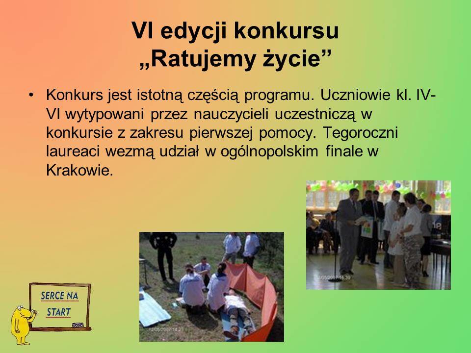 """VI edycji konkursu """"Ratujemy życie"""