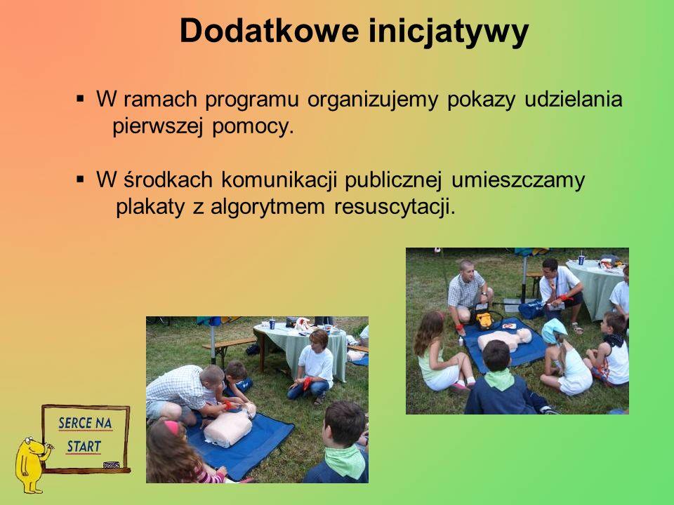 Dodatkowe inicjatywy W ramach programu organizujemy pokazy udzielania