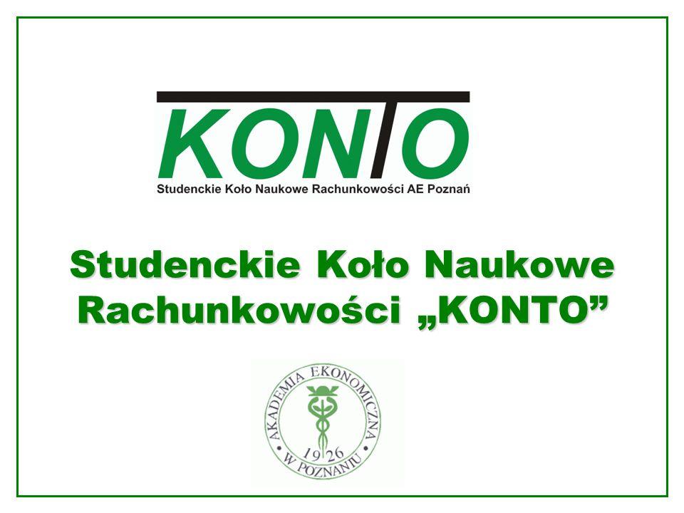 """Studenckie Koło Naukowe Rachunkowości """"KONTO"""