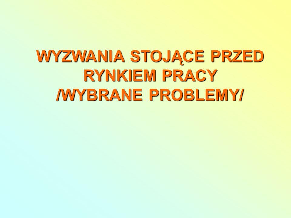 WYZWANIA STOJĄCE PRZED RYNKIEM PRACY /WYBRANE PROBLEMY/