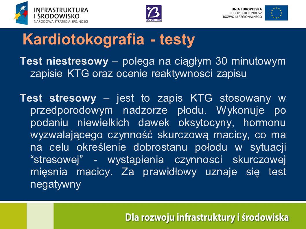Kardiotokografia - testy