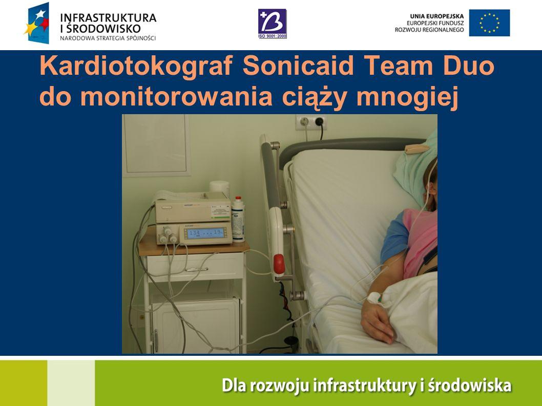 Kardiotokograf Sonicaid Team Duo do monitorowania ciąży mnogiej