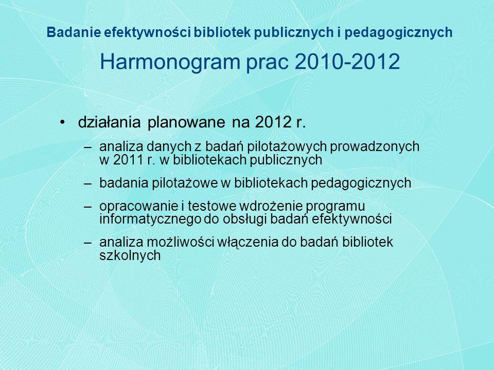 działania planowane na 2012 r.