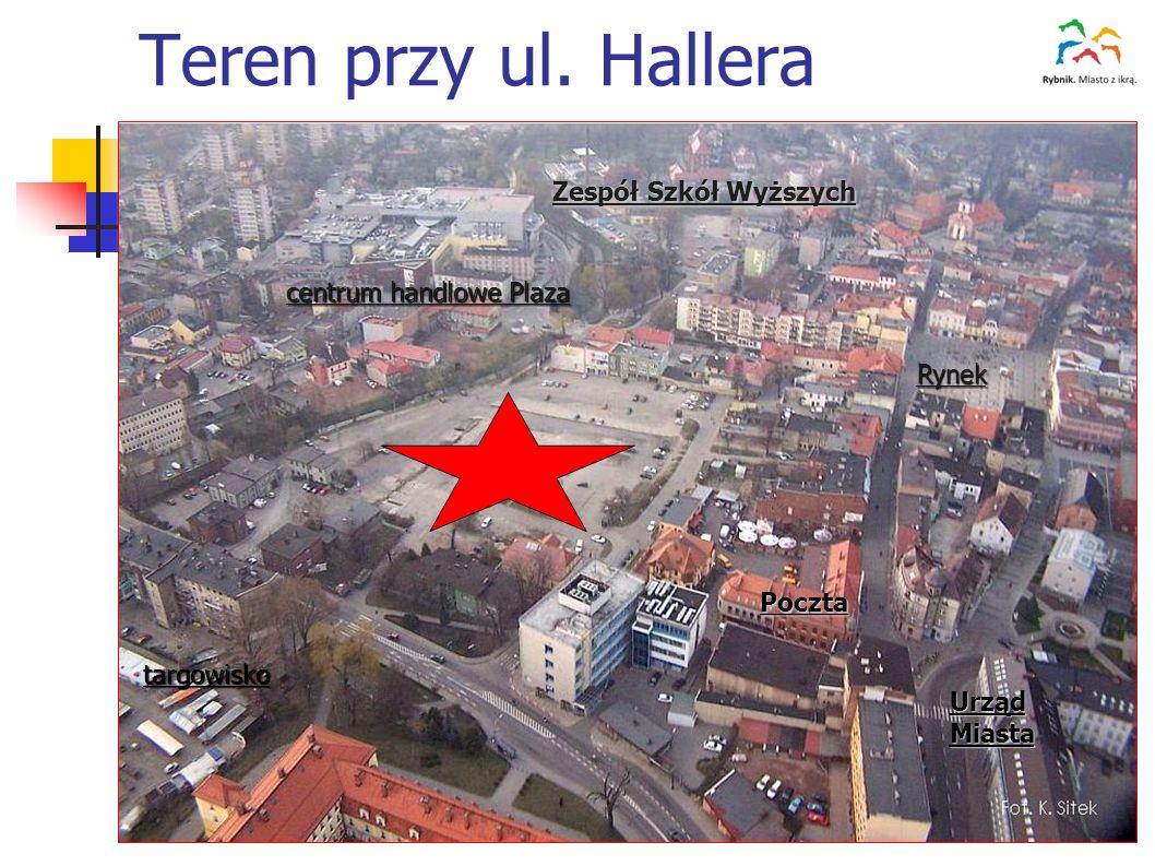 Teren przy ul. Hallera Zespół Szkół Wyższych centrum handlowe Plaza