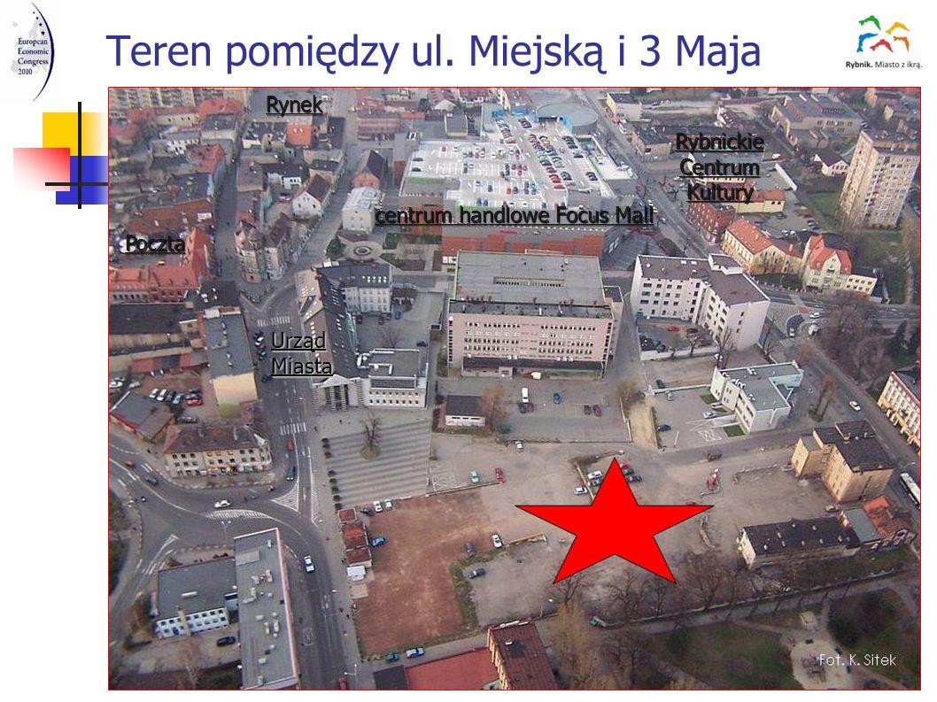 Teren pomiędzy ul. Miejską i 3 Maja