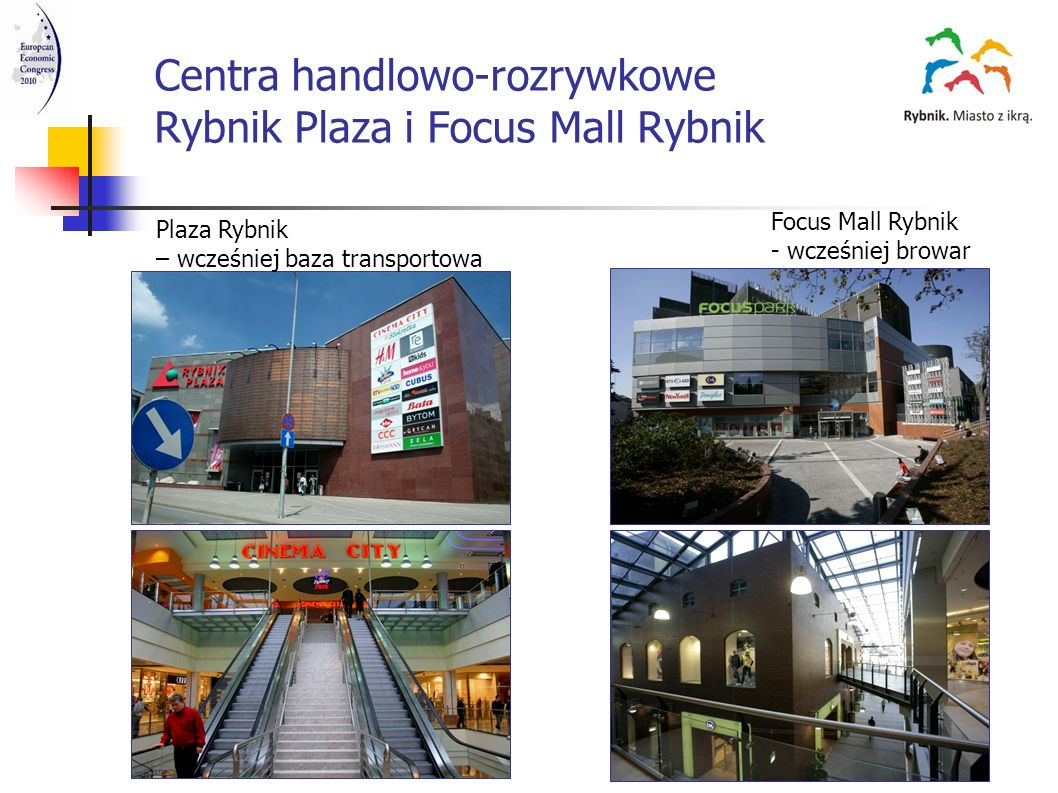 Centra handlowo-rozrywkowe Rybnik Plaza i Focus Mall Rybnik
