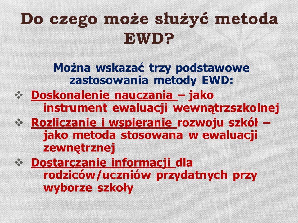 Do czego może służyć metoda EWD