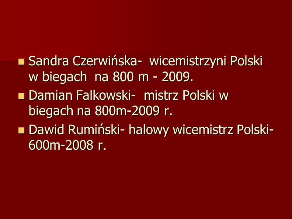 Sandra Czerwińska- wicemistrzyni Polski w biegach na 800 m - 2009.