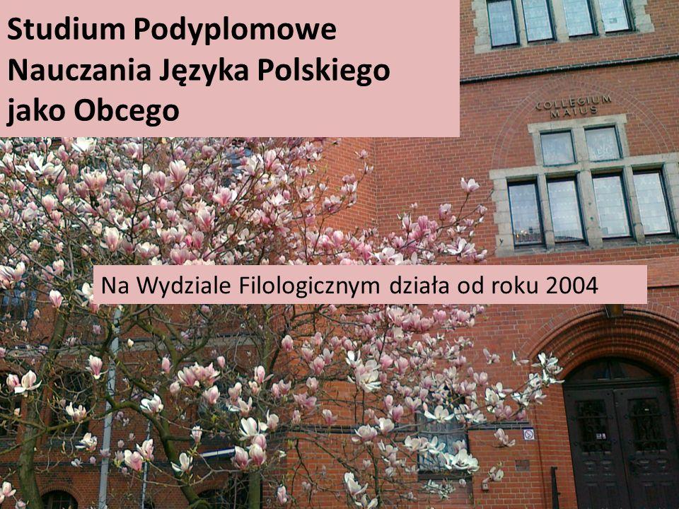 Studium Podyplomowe Nauczania Języka Polskiego jako Obcego