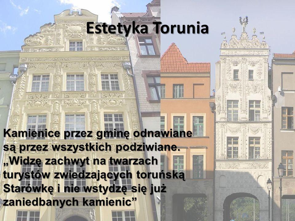 Estetyka Torunia Kamienice przez gminę odnawiane