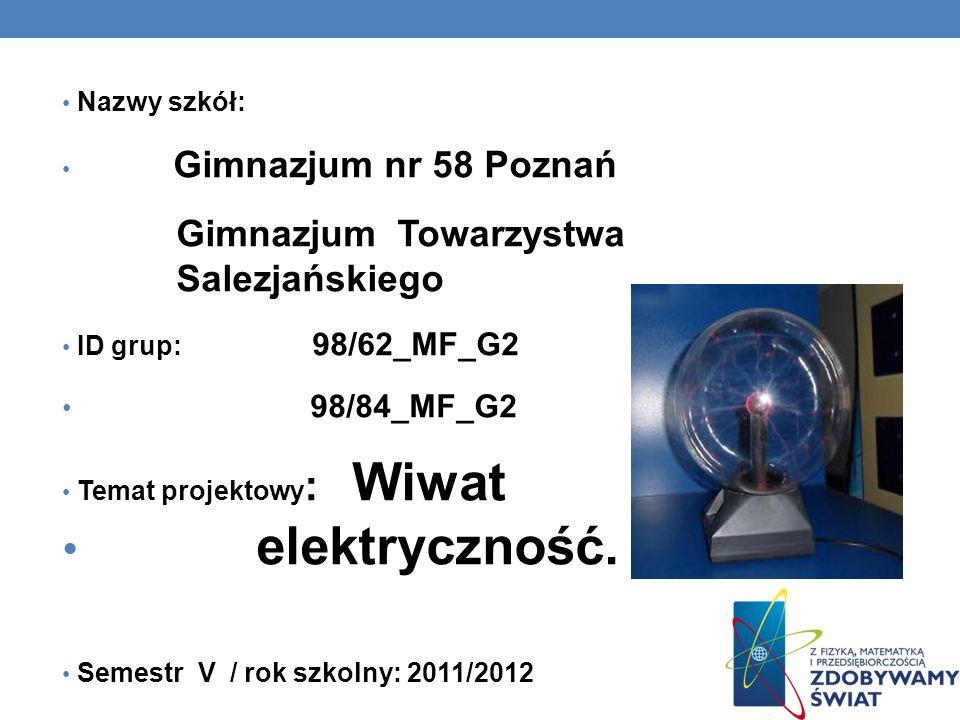 elektryczność. Gimnazjum Towarzystwa Salezjańskiego 98/84_MF_G2