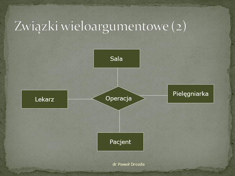 Związki wieloargumentowe (2)