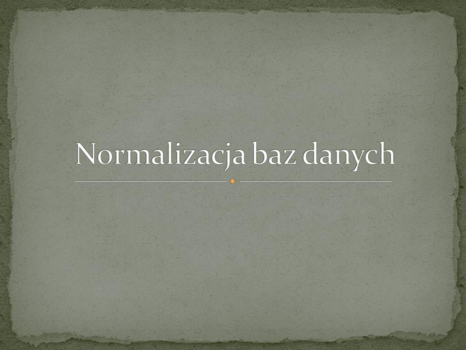 Normalizacja baz danych