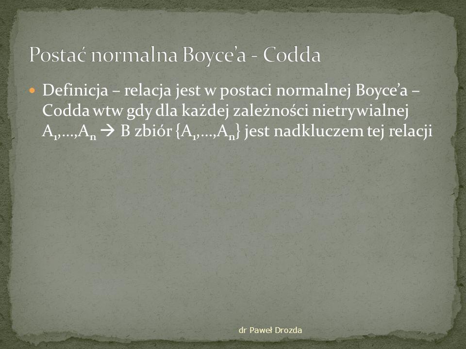 Postać normalna Boyce'a - Codda