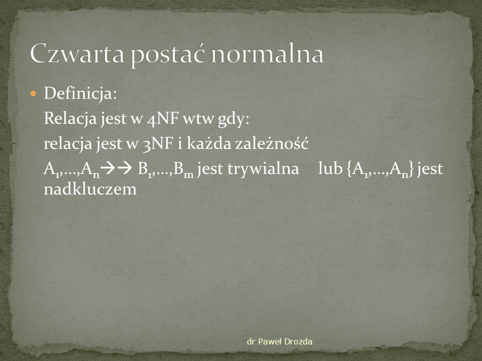 Czwarta postać normalna