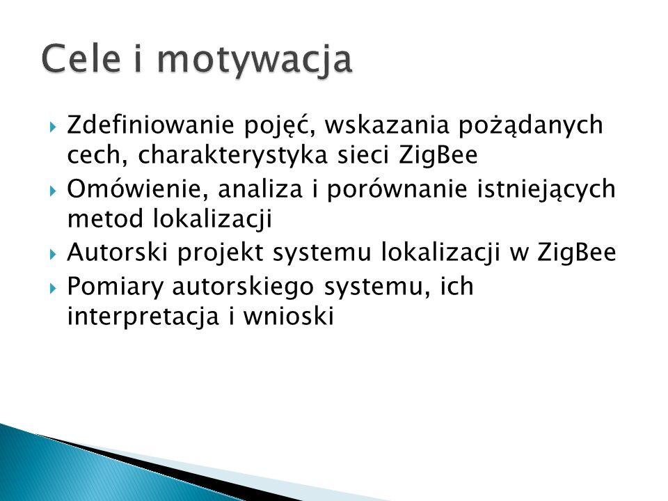 Cele i motywacja Zdefiniowanie pojęć, wskazania pożądanych cech, charakterystyka sieci ZigBee.
