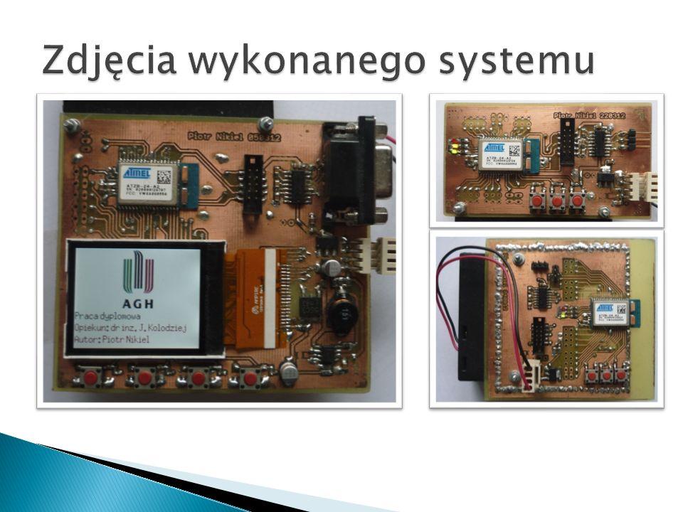 Zdjęcia wykonanego systemu
