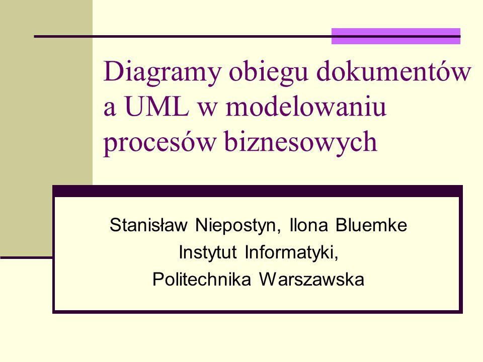 Diagramy obiegu dokumentów a UML w modelowaniu procesów biznesowych