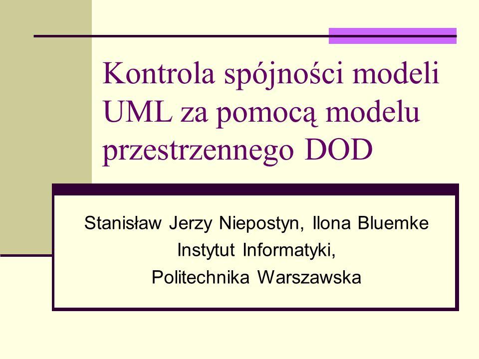 Kontrola spójności modeli UML za pomocą modelu przestrzennego DOD
