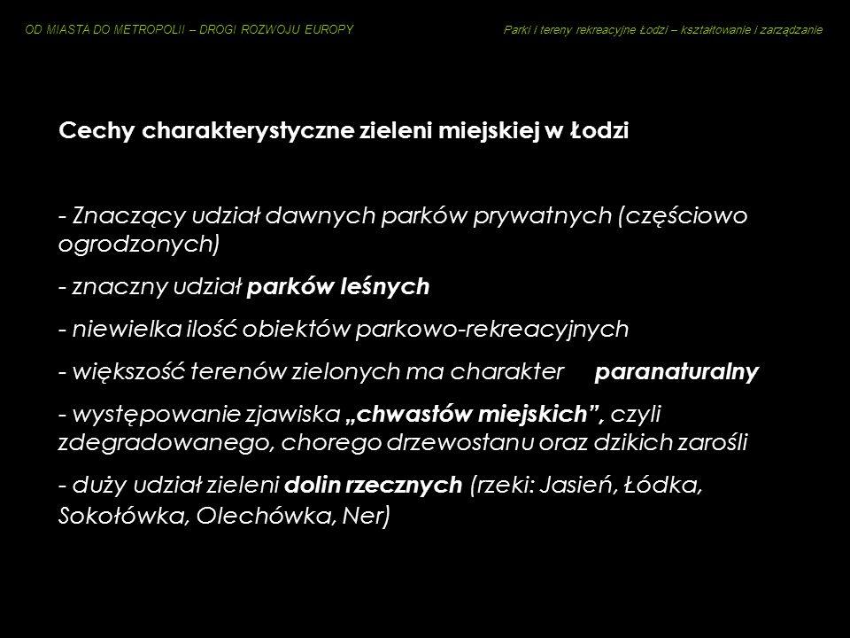 Cechy charakterystyczne zieleni miejskiej w Łodzi