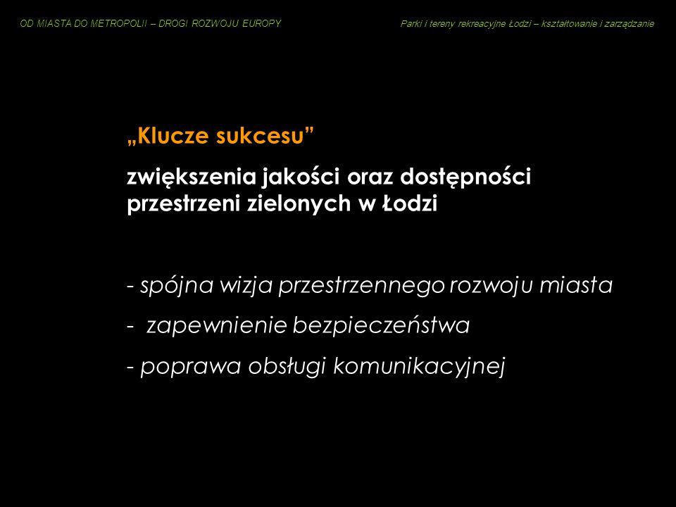 """""""Klucze sukcesu zwiększenia jakości oraz dostępności przestrzeni zielonych w Łodzi. spójna wizja przestrzennego rozwoju miasta."""