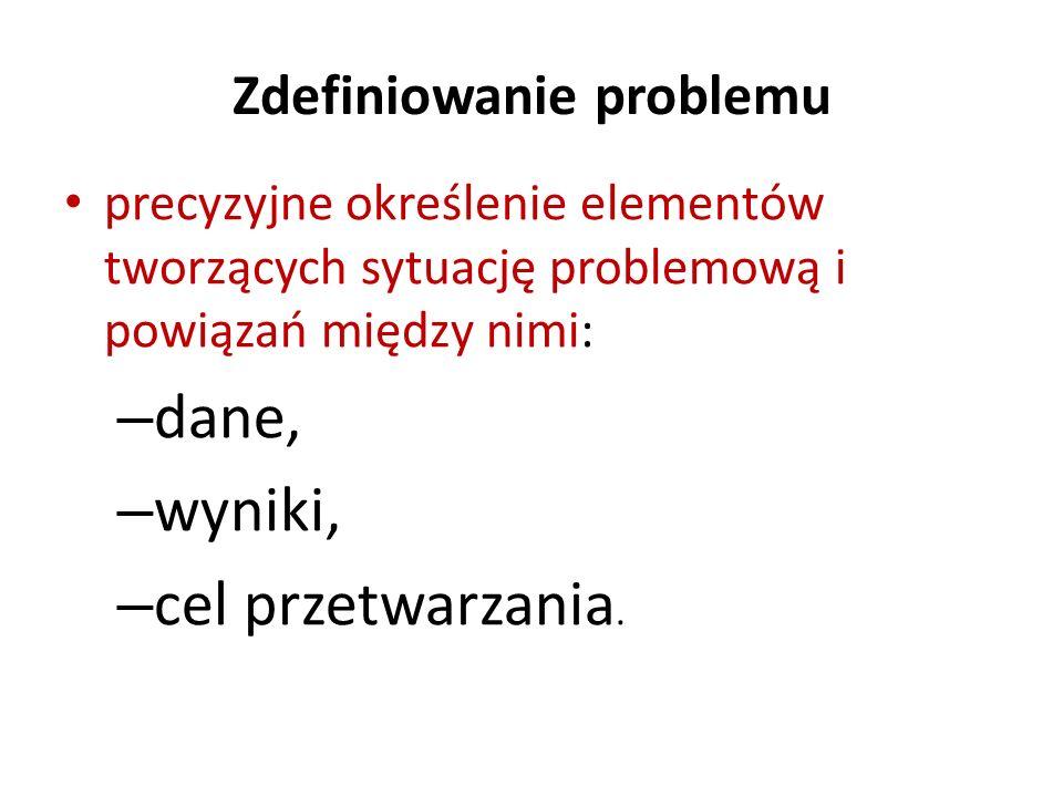 Zdefiniowanie problemu