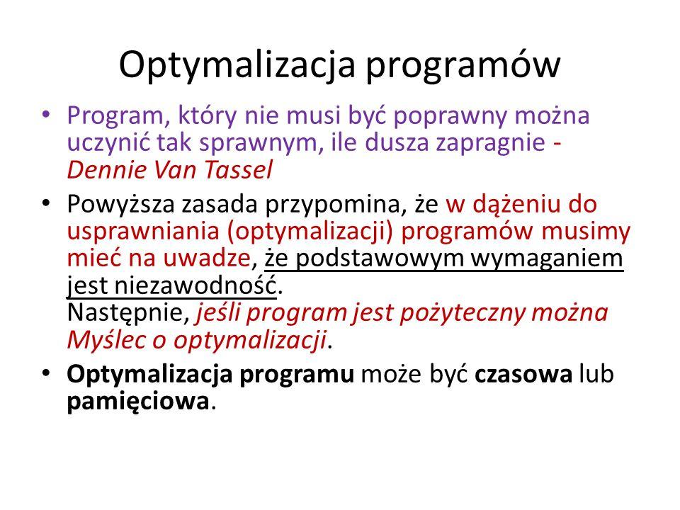 Optymalizacja programów