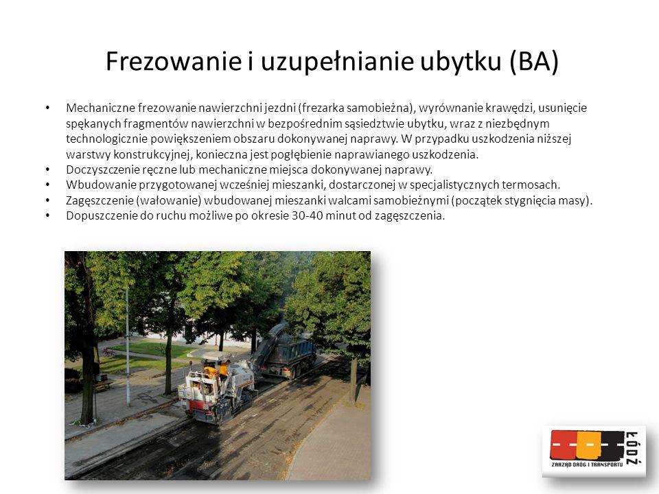 Frezowanie i uzupełnianie ubytku (BA)
