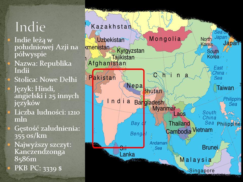 Indie Indie leżą w południowej Azji na półwyspie
