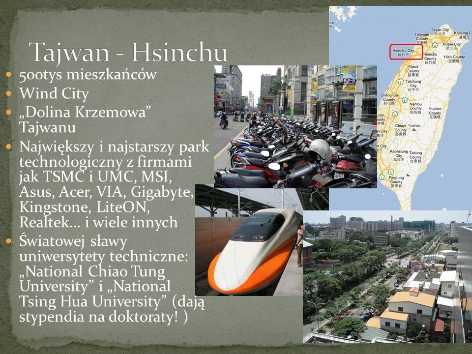 Tajwan - Hsinchu 500tys mieszkańców Wind City