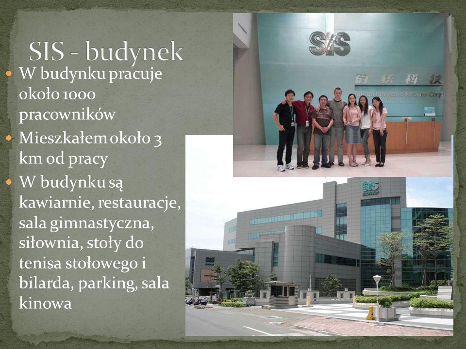 SIS - budynek W budynku pracuje około 1000 pracowników