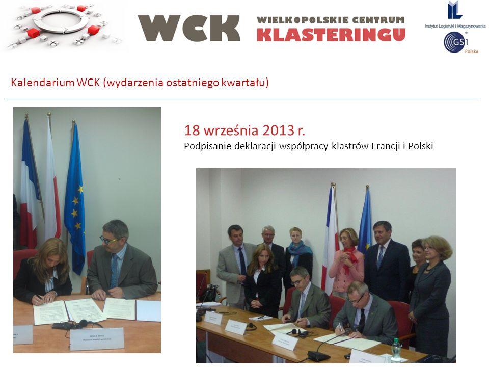 18 września 2013 r. Kalendarium WCK (wydarzenia ostatniego kwartału)