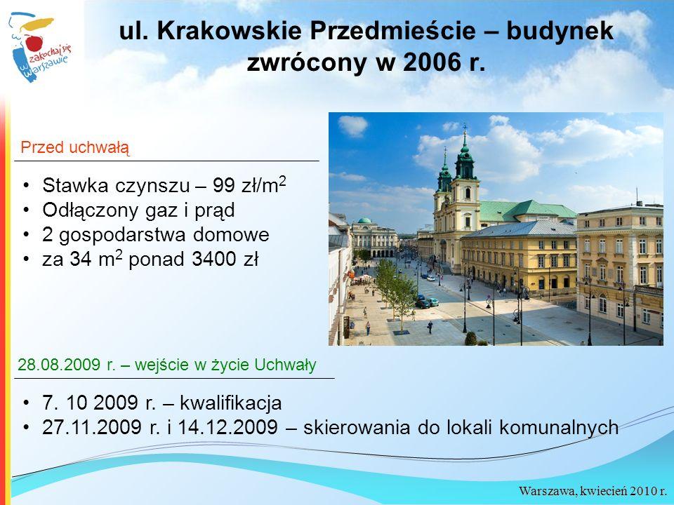 ul. Krakowskie Przedmieście – budynek zwrócony w 2006 r.