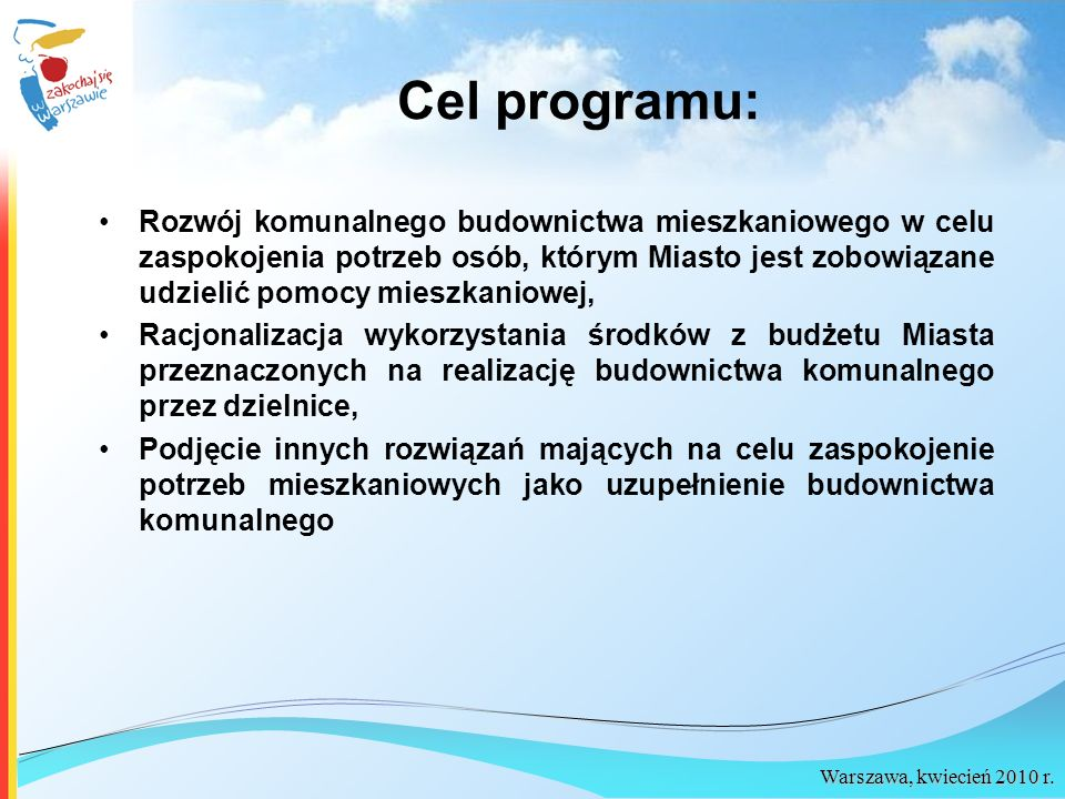 Cel programu: