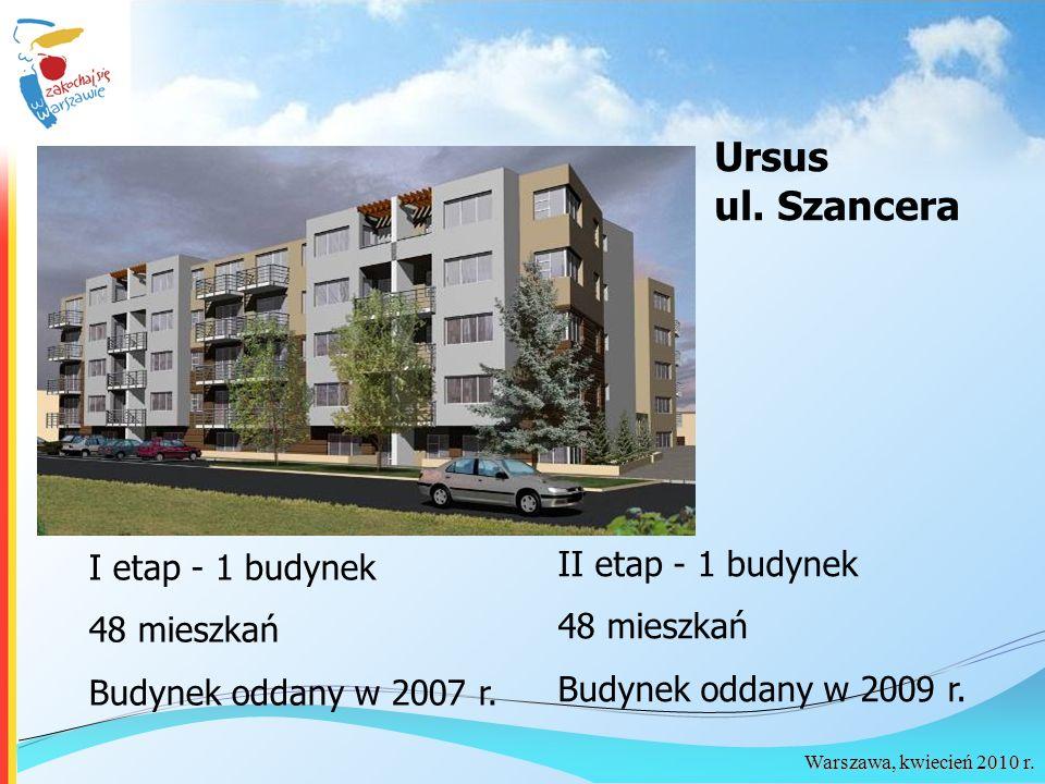 Ursus ul. Szancera II etap - 1 budynek I etap - 1 budynek 48 mieszkań