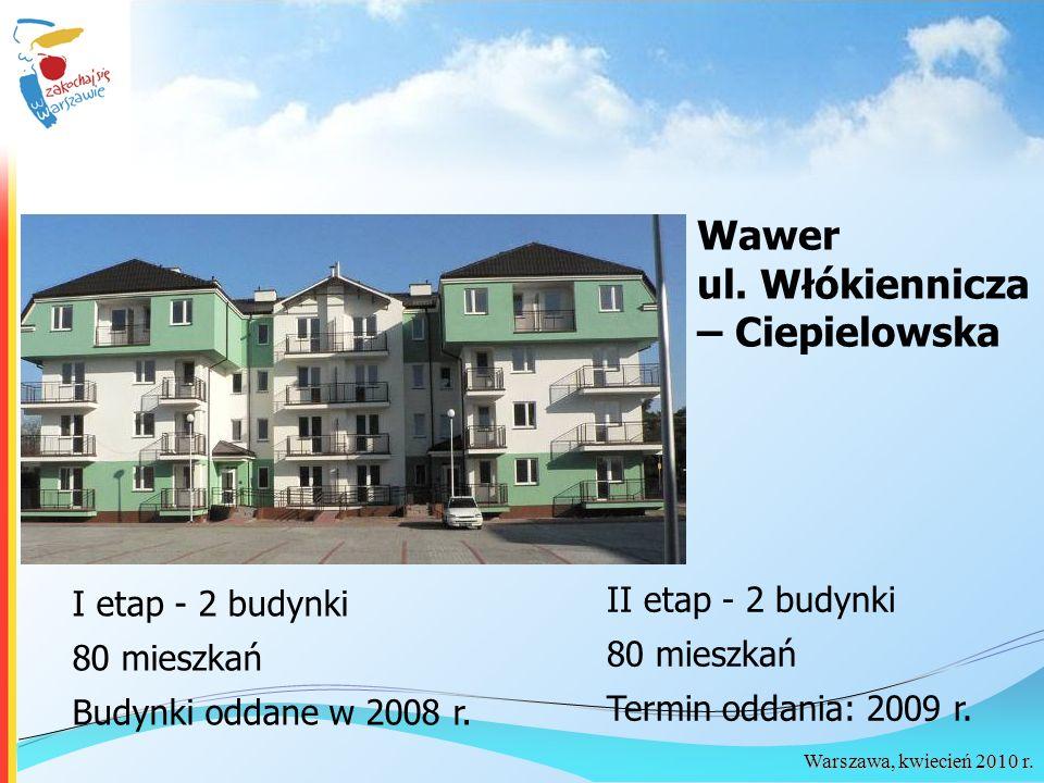 Wawer ul. Włókiennicza – Ciepielowska II etap - 2 budynki
