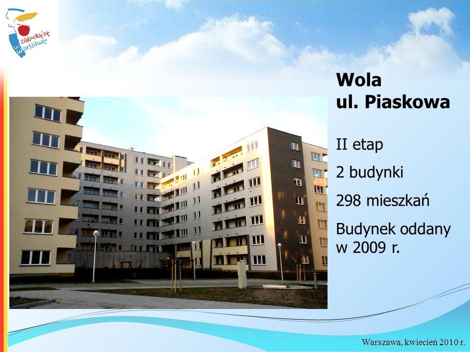Wola ul. Piaskowa II etap 2 budynki 298 mieszkań