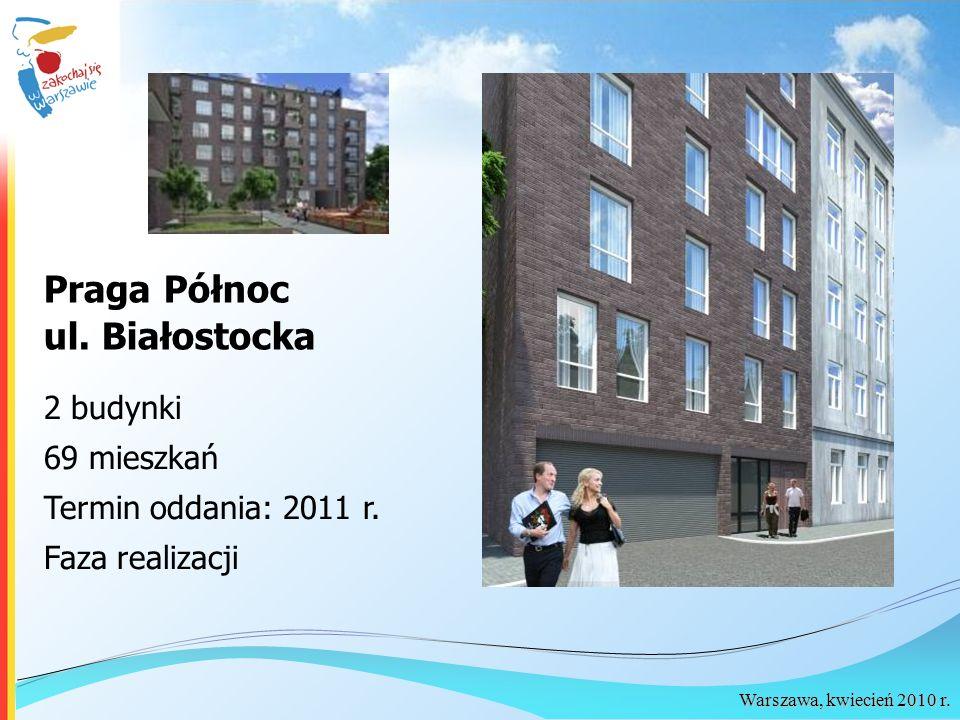 Praga Północ ul. Białostocka 2 budynki 69 mieszkań