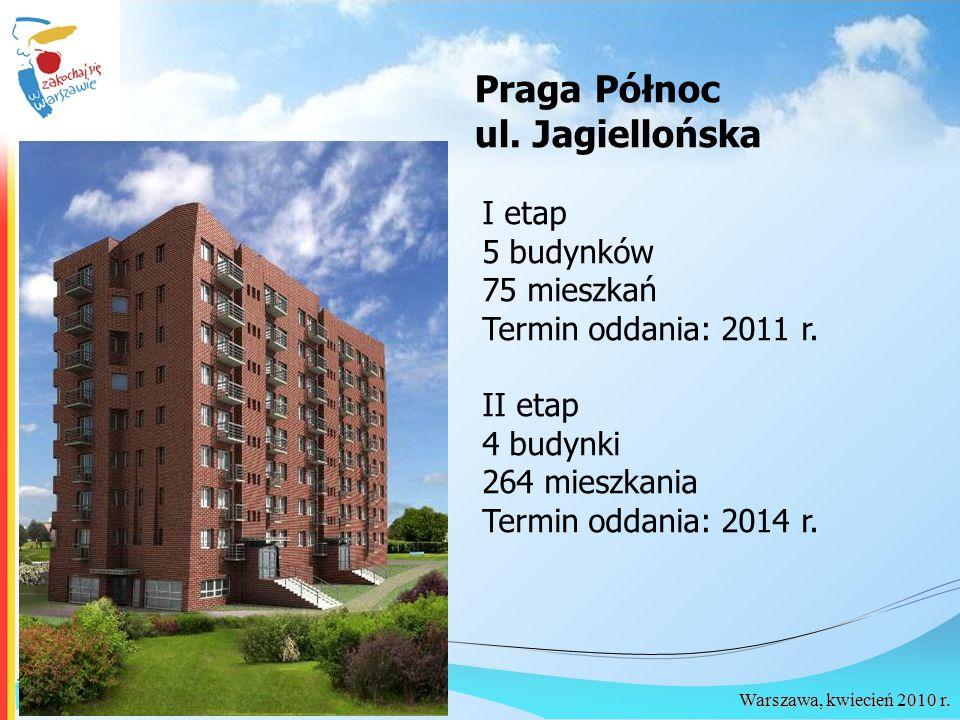 Praga Północ ul. Jagiellońska I etap 5 budynków 75 mieszkań