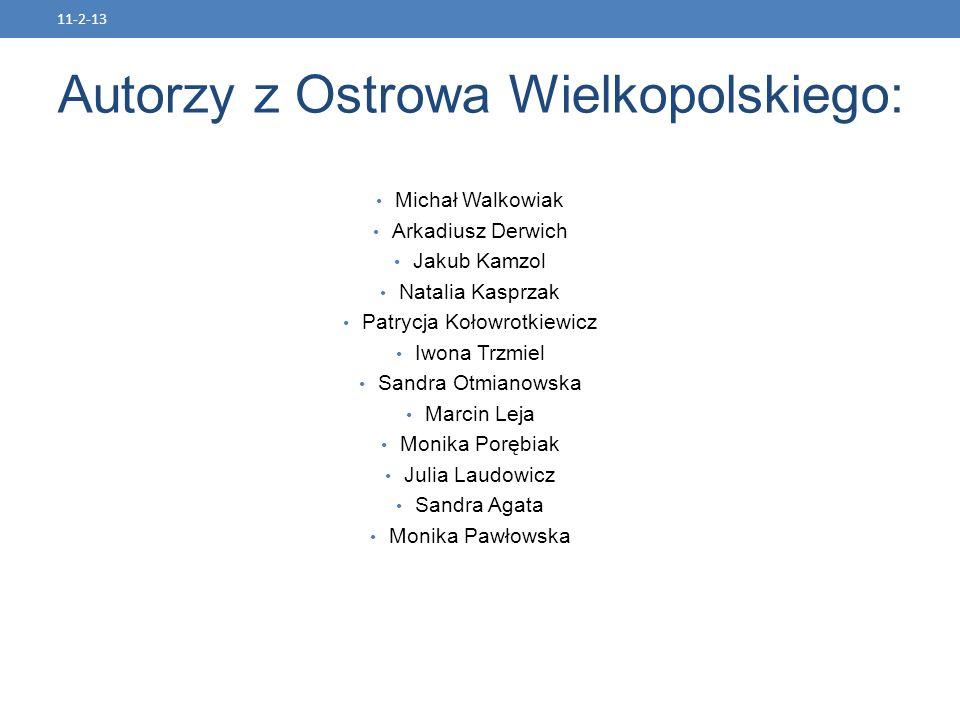 Autorzy z Ostrowa Wielkopolskiego: