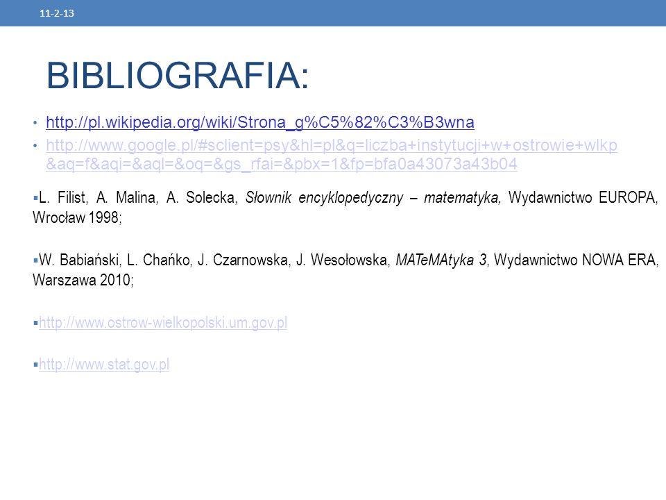 BIBLIOGRAFIA: http://pl.wikipedia.org/wiki/Strona_g%C5%82%C3%B3wna