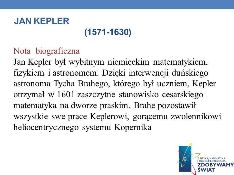 Jan Kepler (1571-1630) Nota biograficzna.