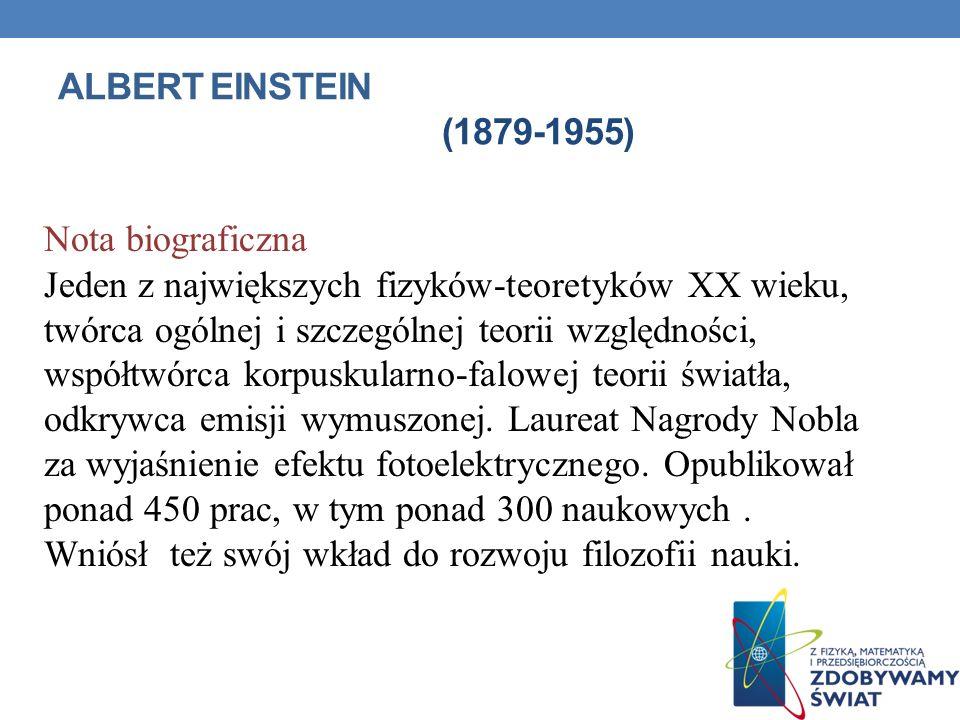 Albert Einstein (1879-1955) Nota biograficzna.