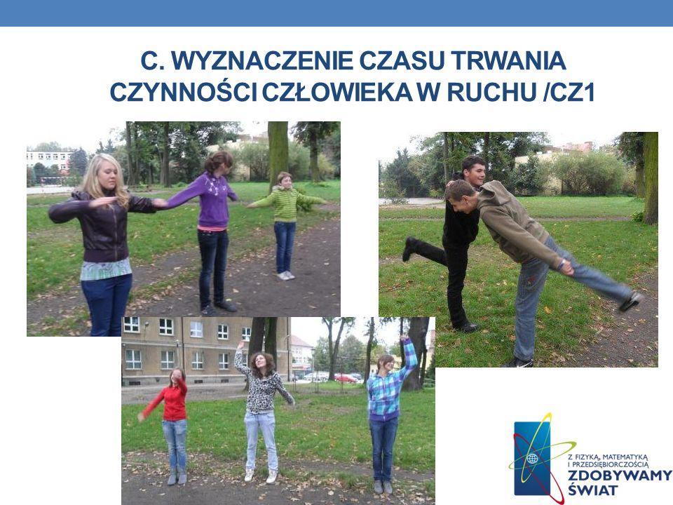 C. Wyznaczenie czasu trwania czynności człowieka w ruchu /cz1