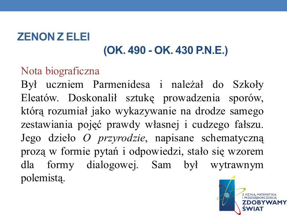 ZENON Z ELEI (ok. 490 - ok. 430 p.n.e.)